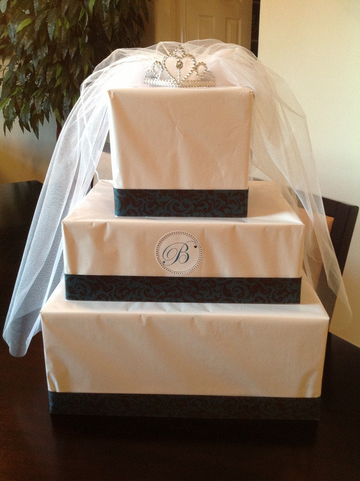 Best ideas about Bridal Shower Gift Wrapping Ideas . Save or Pin Bridal shower t wrapping idea Gift made to look like a Now.