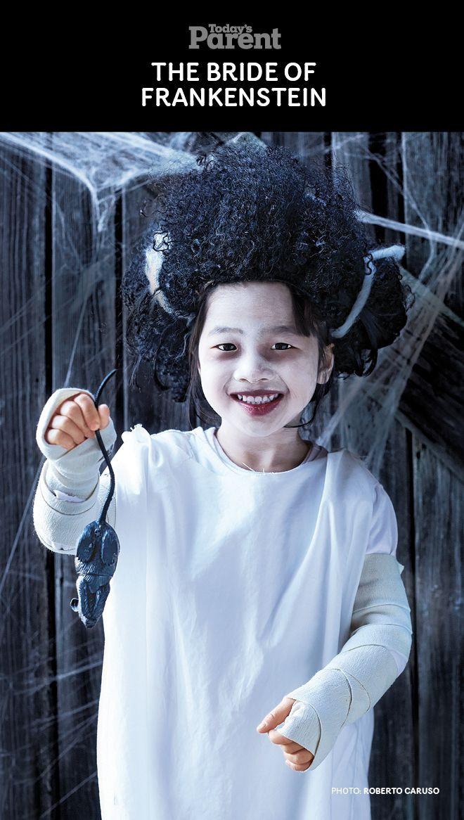 Best ideas about Bride Of Frankenstein Costume DIY . Save or Pin DIY Classic Bride of Frankenstein Kids Halloween Costume Now.