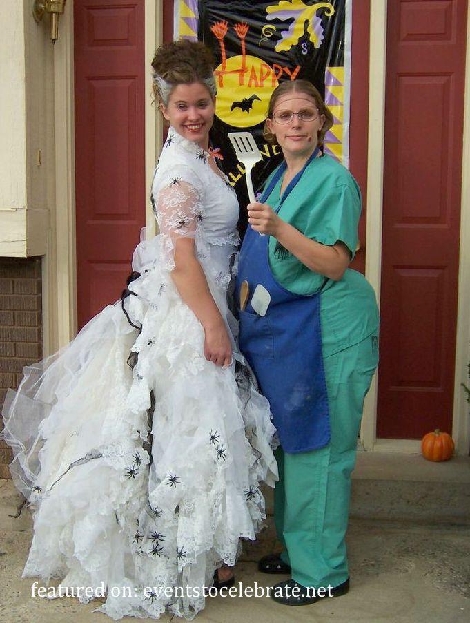 Best ideas about Bride Of Frankenstein Costume DIY . Save or Pin Bride of Frankenstein & Lunch Lady Halloween Costume Now.