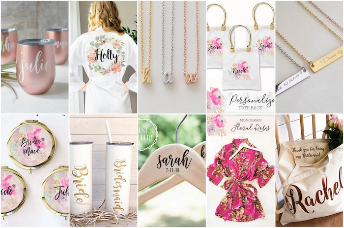 Best ideas about Bridesmaid Gift Ideas Under 20 . Save or Pin 20 Bridesmaids Gifts Bridesmaid Jewelry Custom Bags Now.