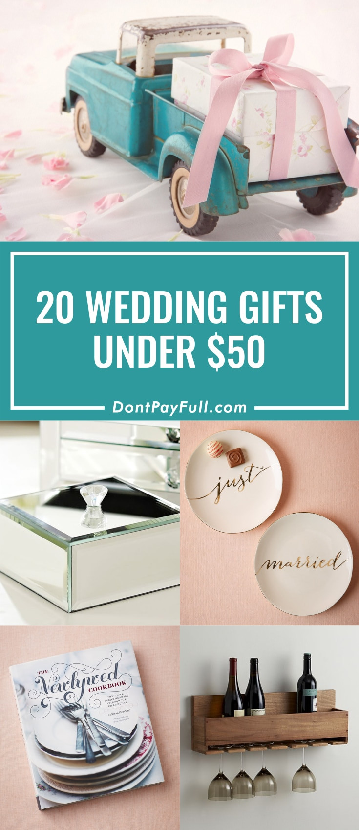 Best ideas about Bridesmaid Gift Ideas Under 20 . Save or Pin 20 Wedding Gift Ideas for Under $50 us225 Now.