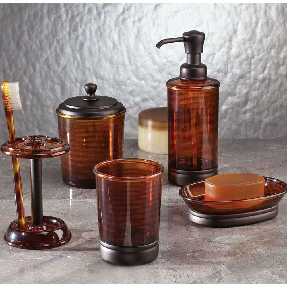 Best ideas about Bronze Bathroom Accessories . Save or Pin Brown Tinted Bath Accessories Bathroom Sink Accessory Oil Now.