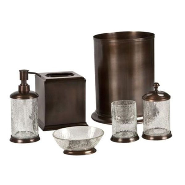 Best ideas about Bronze Bathroom Accessories . Save or Pin Orb Crackle Glass and Oil Rubbed Bronze Bath Accessories Now.