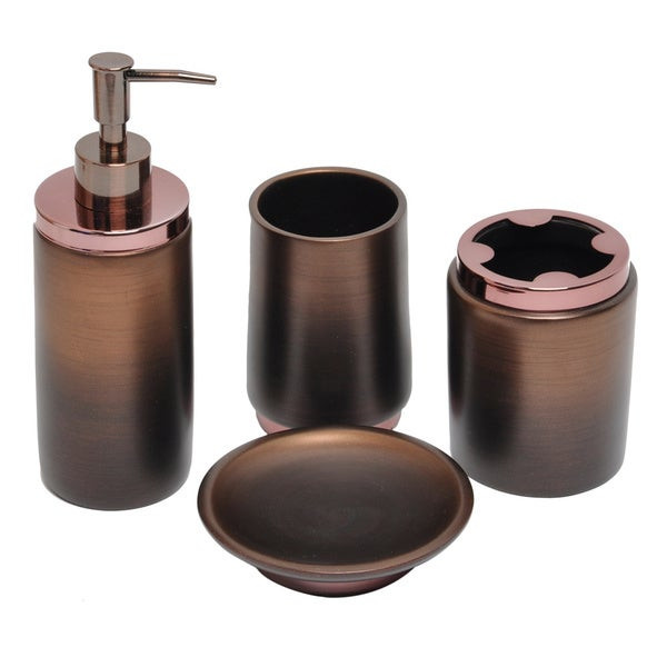 Best ideas about Bronze Bathroom Accessories . Save or Pin Oil Rubbed Bronze Bath Accessory 4 piece Set Now.