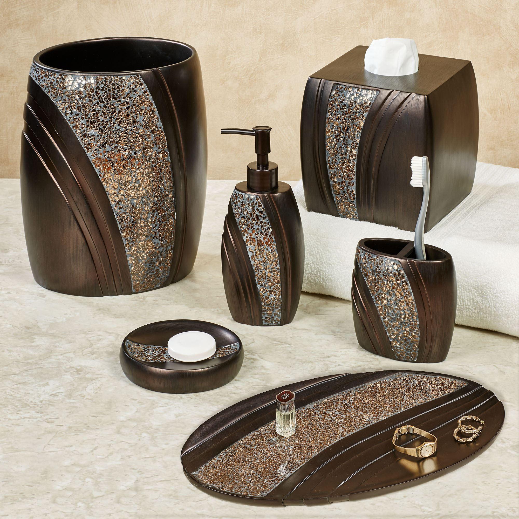Best ideas about Bronze Bathroom Accessories . Save or Pin Grandeur Mosaic Bronze Bath Accessories Now.