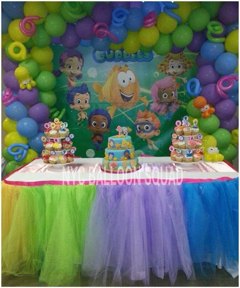 Best ideas about Bubble Guppie Birthday Party Ideas . Save or Pin 1st Birthday Birthday Party Ideas 1 of 6 Now.