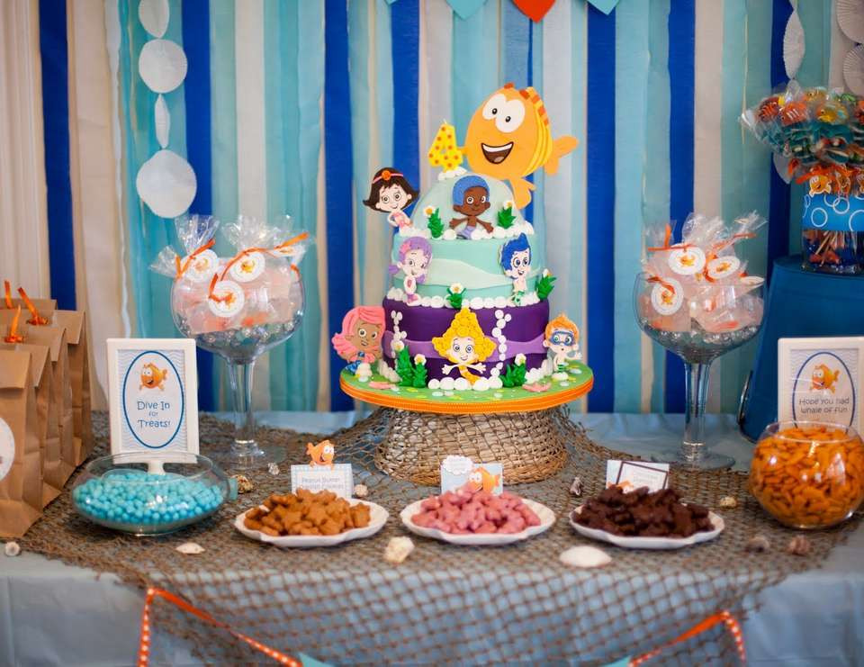 """Best ideas about Bubble Guppie Birthday Party Ideas . Save or Pin Under the Sea Birthday """"Bubble Guppies 4th Birthday Now."""