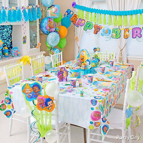 Best ideas about Bubble Guppie Birthday Party Ideas . Save or Pin Bubble Guppies Party Table Idea Party City Now.