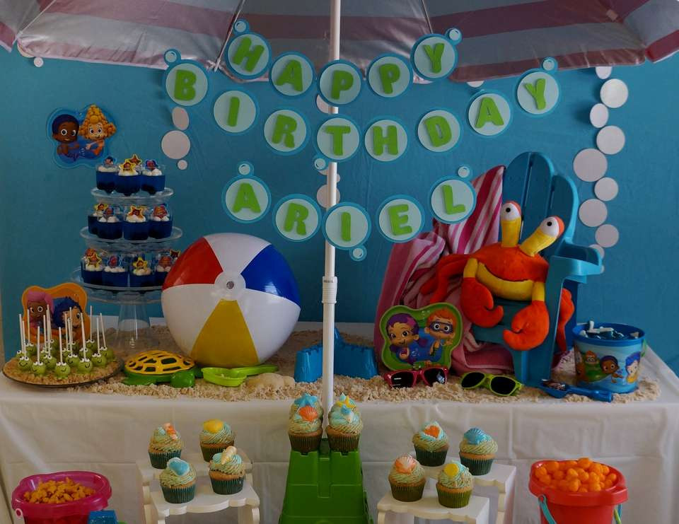 """Best ideas about Bubble Guppie Birthday Party Ideas . Save or Pin Bubble Guppies Beach Day Birthday """"Ariel s Beach Day Now."""