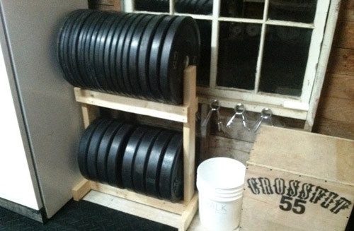 Best ideas about Bumper Plate Storage DIY . Save or Pin DIY Plate Storage Projects Garage Gym Organization Now.