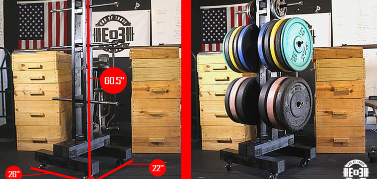 Best ideas about Bumper Plate Storage DIY . Save or Pin DIY Weight Tree Bumper Plate Storage for the Garage Gym Now.