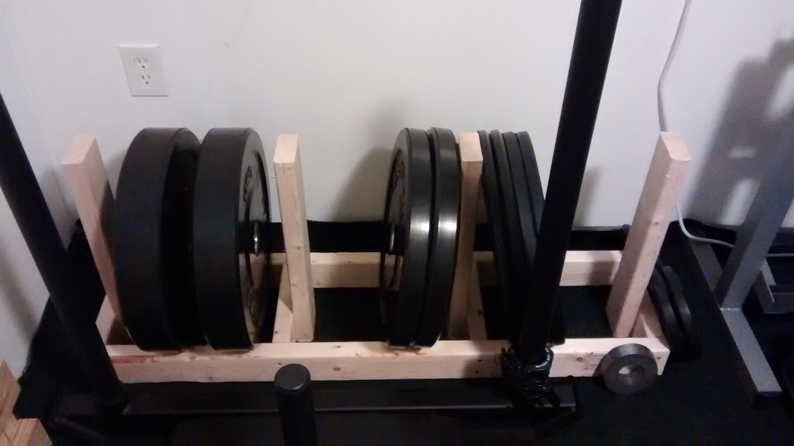 Best ideas about Bumper Plate Storage DIY . Save or Pin DIY Wooden Bumper Rack Bodybuilding Forums Now.
