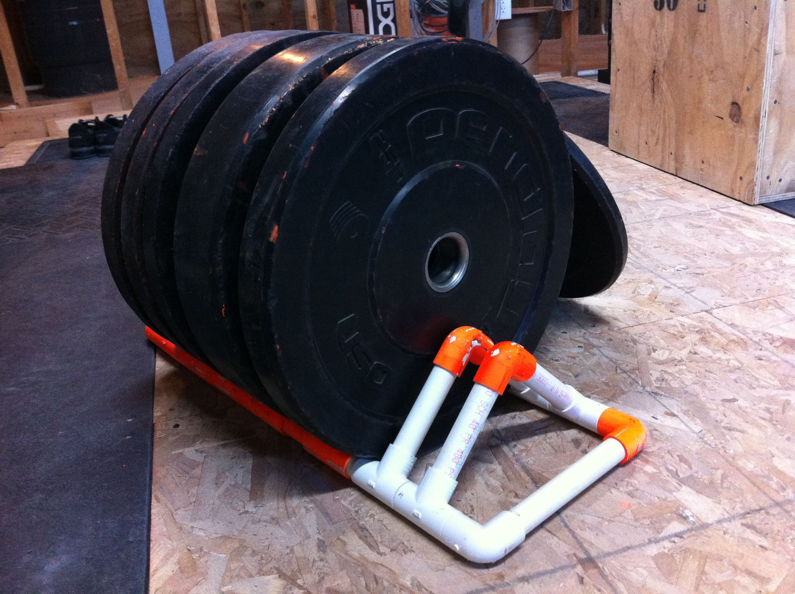 Best ideas about Bumper Plate Storage DIY . Save or Pin plate rack Now.