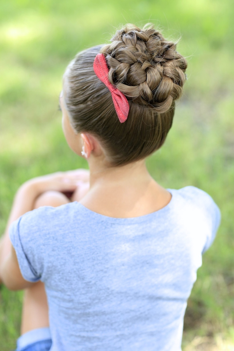 Best ideas about Bun Hairstyles For Girls . Save or Pin Pancaked Bun of Braids Updo Hairstyles Now.