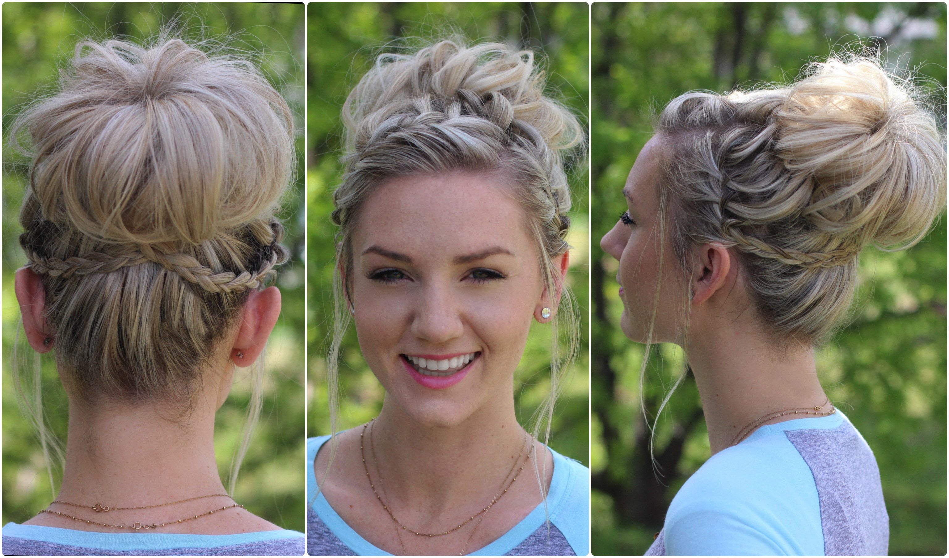 Best ideas about Bun Hairstyles For Girls . Save or Pin Waterfall Bun Updo Now.