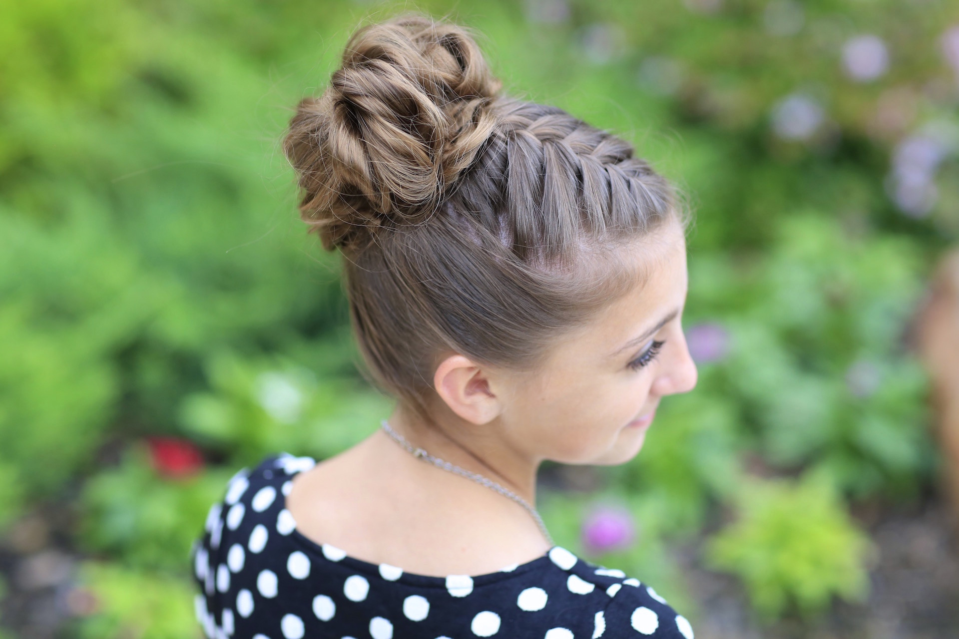 Best ideas about Bun Hairstyles For Girls . Save or Pin Double French Messy Bun Updo Now.