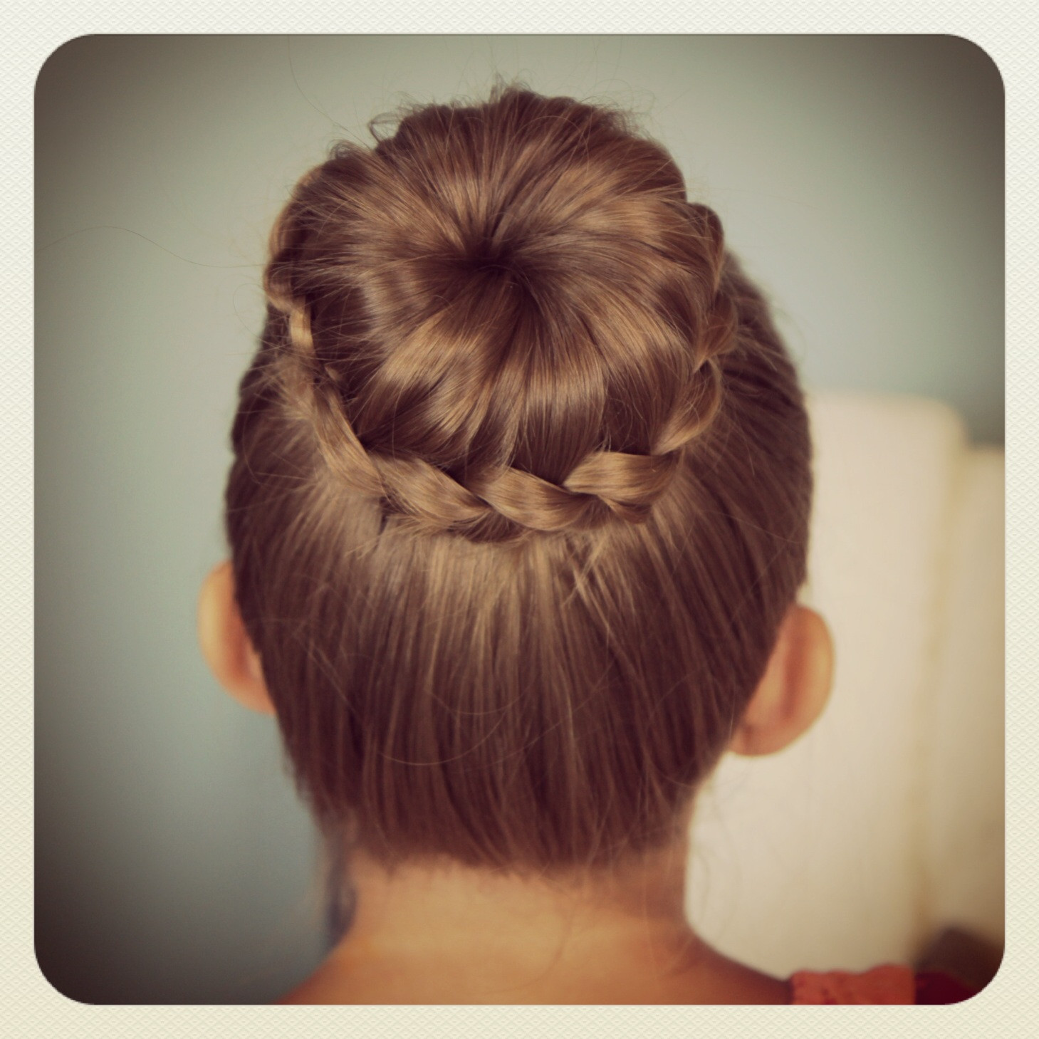Best ideas about Bun Hairstyles For Girls . Save or Pin Lace Braided Bun Cute Updo Hairstyles Now.