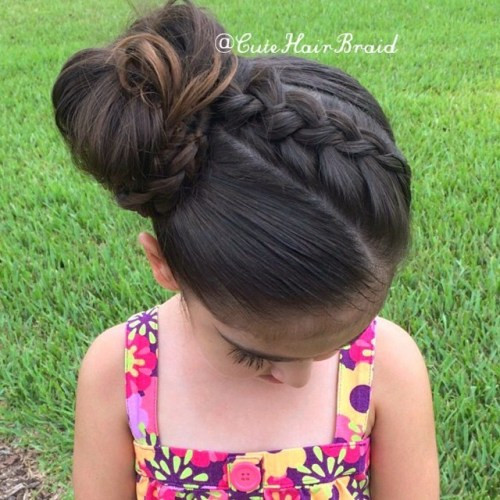 Best ideas about Bun Hairstyles For Girls . Save or Pin Braids for Kids – 40 Splendid Braid Styles for Girls Now.