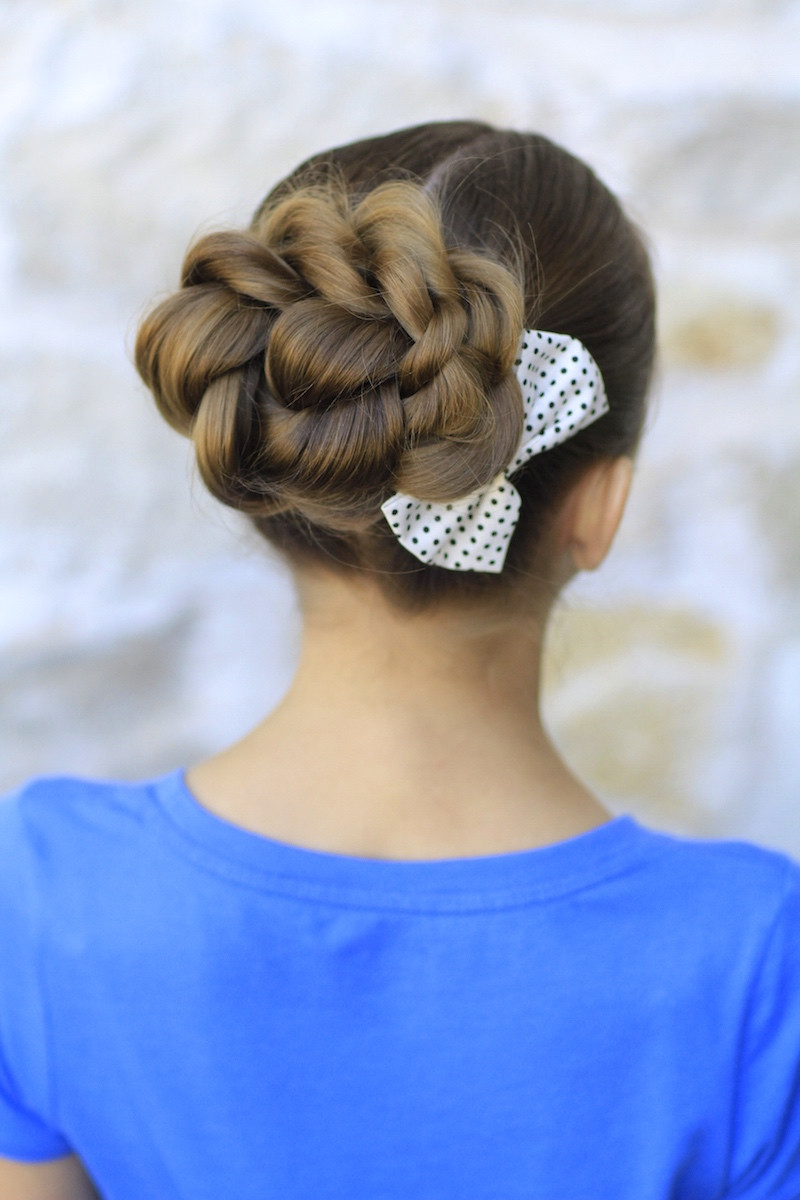 Best ideas about Bun Hairstyles For Girls . Save or Pin Rope Twisted Bun Hairstyles for Prom Now.