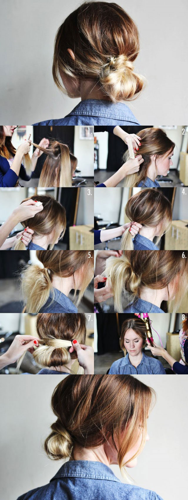 Best ideas about Bun Hairstyles For Short Hair Step By Step . Save or Pin 20 Beautiful Hairstyles for Long Hair Step by Step Now.