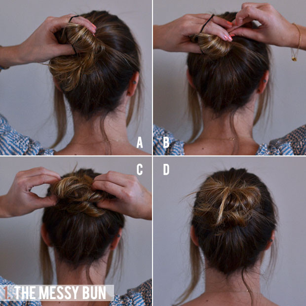 Best ideas about Bun Hairstyles For Short Hair Step By Step . Save or Pin 4 Super easy tutorials to help you those perfectly Now.