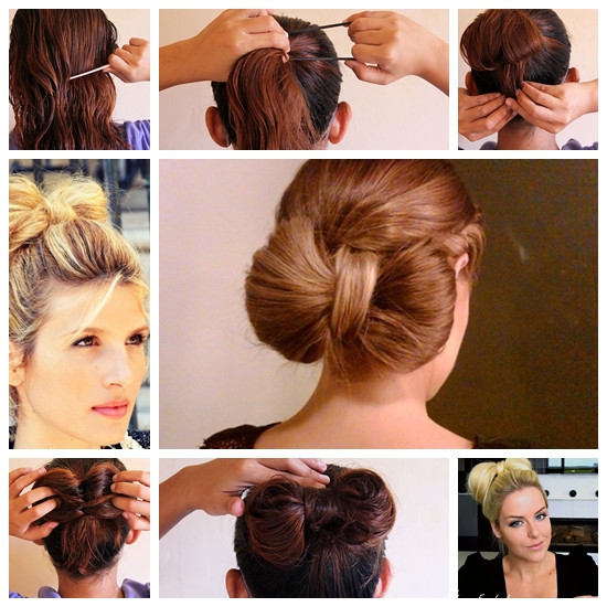 Best ideas about Bun Hairstyles For Short Hair Step By Step . Save or Pin Wonderful Super Easy Bow Bun for Short Hair Style Now.
