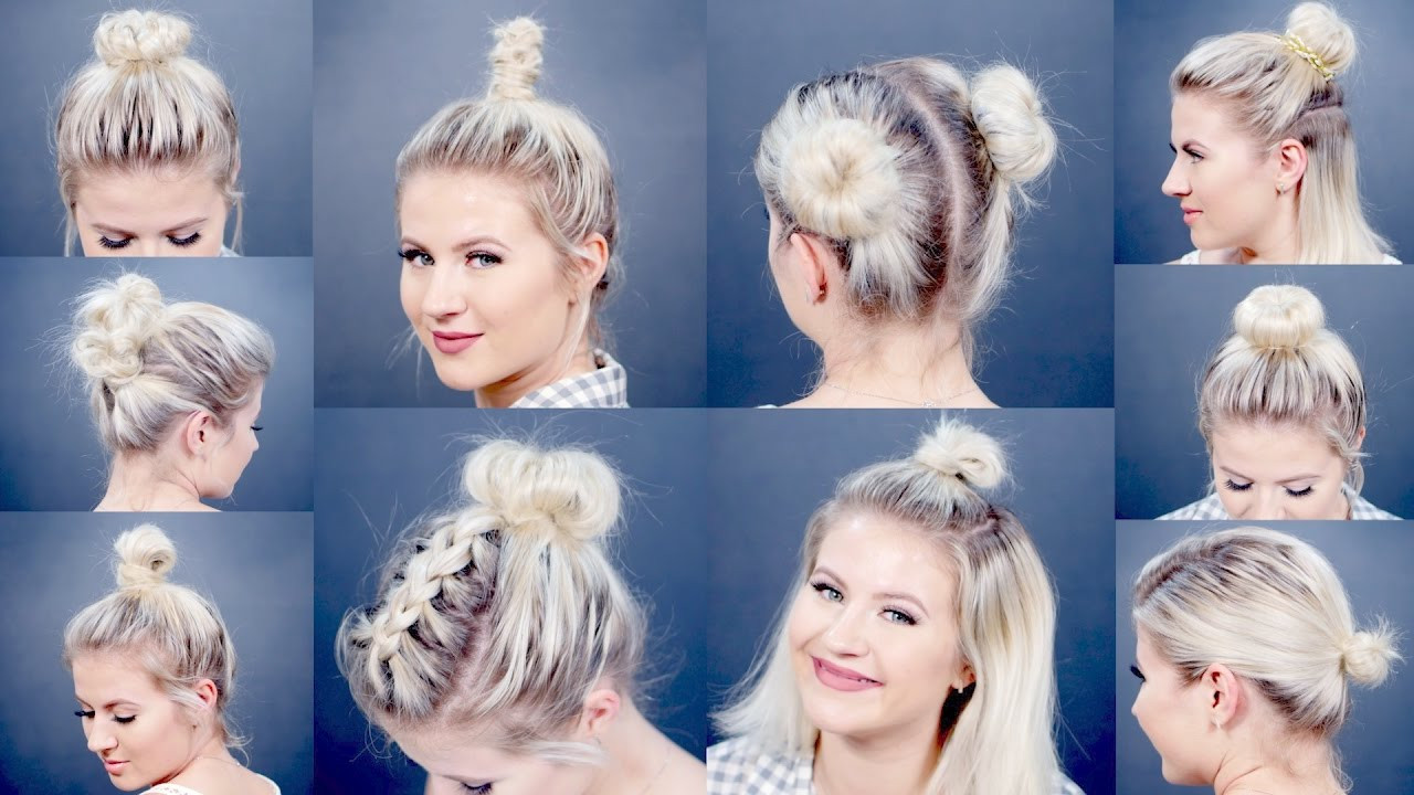 Best ideas about Bun Hairstyles For Short Hair Step By Step . Save or Pin 10 EASY Different Bun Hairstyles For Short Hair Now.