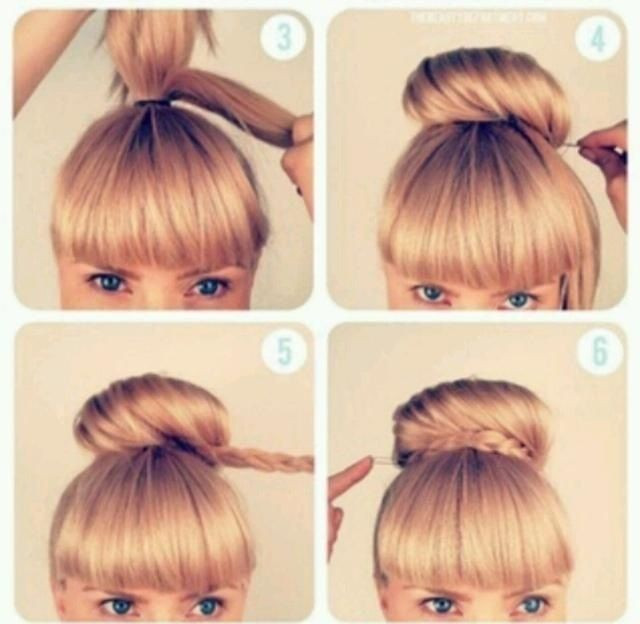 Best ideas about Bun Hairstyles For Short Hair Step By Step . Save or Pin high bun hairstyles step by step Google Search Now.