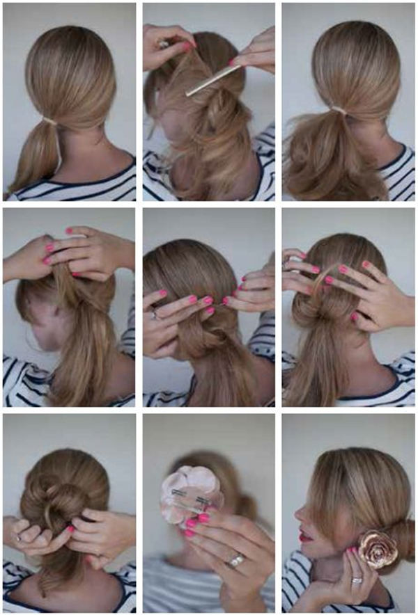 Best ideas about Bun Hairstyles For Short Hair Step By Step . Save or Pin Bun Hairstyles with Within 5 Steps Now.