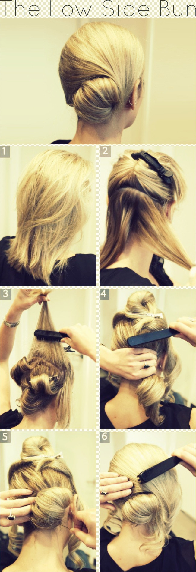 Best ideas about Bun Hairstyles For Short Hair Step By Step . Save or Pin Graceful and Beautiful Low Side Bun Hairstyle Tutorials Now.