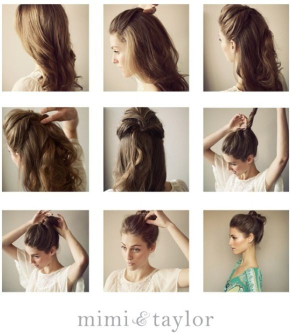 Best ideas about Bun Hairstyles For Short Hair Step By Step . Save or Pin Super Easy Top Knot Hair Bun Step By Step Tutorials Now.