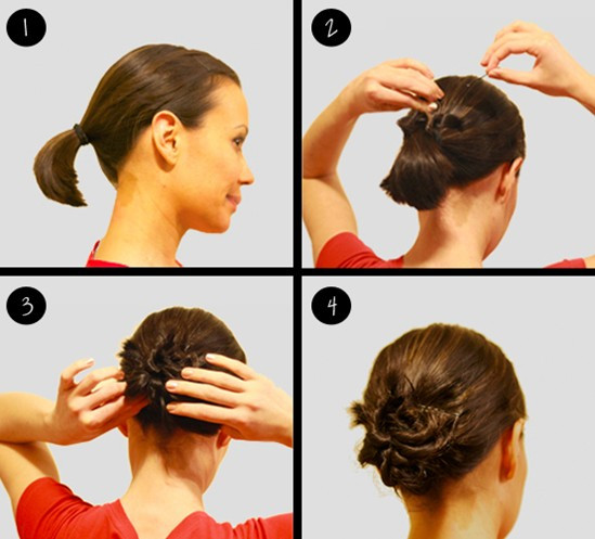 Best ideas about Bun Hairstyles For Short Hair Step By Step . Save or Pin 10 Updo Hairstyles for Short Hair PoPular Haircuts Now.