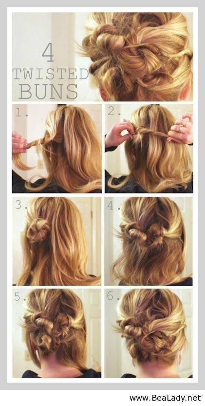 Best ideas about Bun Hairstyles For Short Hair Step By Step . Save or Pin 15 Cute hairstyles Step by Step Hairstyles for Long Hair Now.