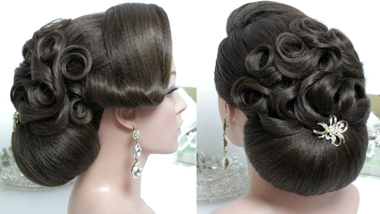 Best ideas about Bun Hairstyles For Short Hair Step By Step . Save or Pin Bridal hairstyle for long hair tutorial Wedding bun updo Now.