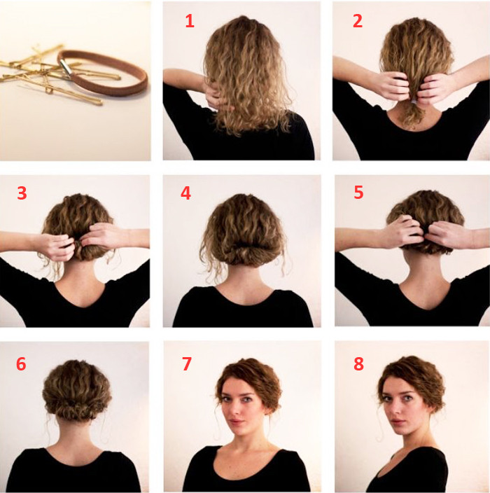 Best ideas about Bun Hairstyles For Short Hair Step By Step . Save or Pin Easy Step By Step Hairstyles For Medium Hair Now.