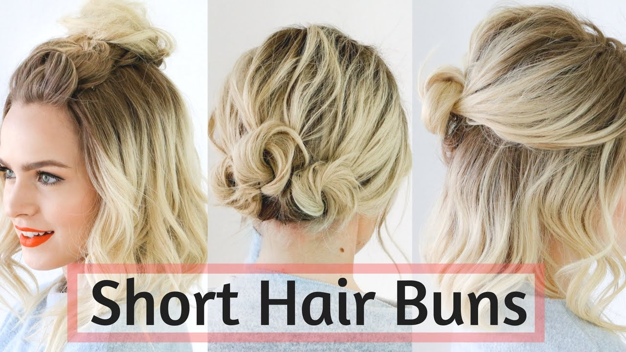 Best ideas about Bun Hairstyles For Short Hair Step By Step . Save or Pin Quick Bun Hairstyles for Short Medium Hair Hair Now.