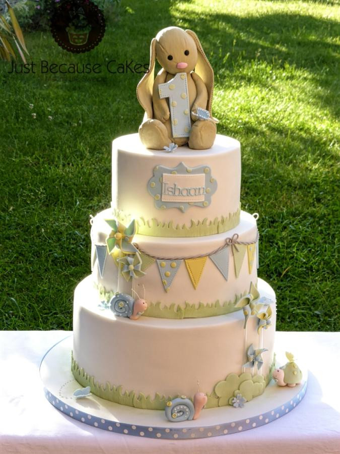 Best ideas about Bunny Birthday Cake . Save or Pin Jellycat Bunny 1st Birthday Cake Cake by Just Because Now.