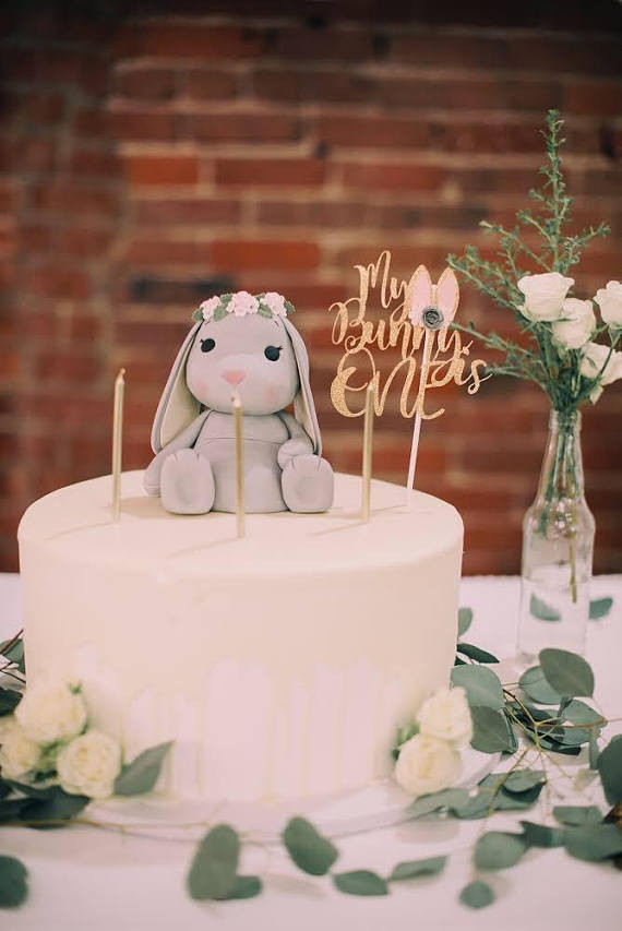 Best ideas about Bunny Birthday Cake . Save or Pin Bunny BirthdayBunnyMy bunny is one bunny cake topper bunny Now.