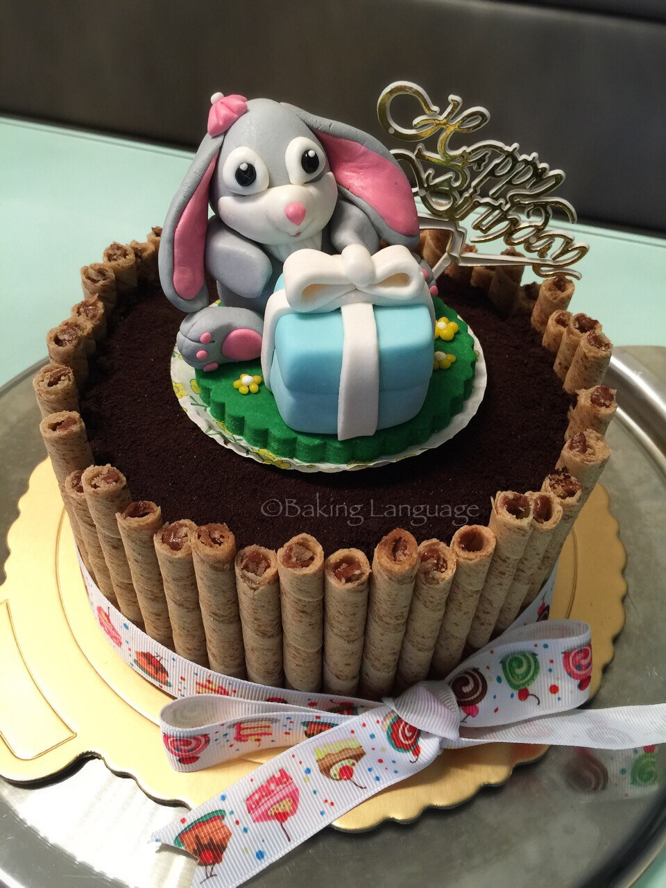 Best ideas about Bunny Birthday Cake . Save or Pin Bunny Cookies & Cream Chocolate Birthday Cake Now.