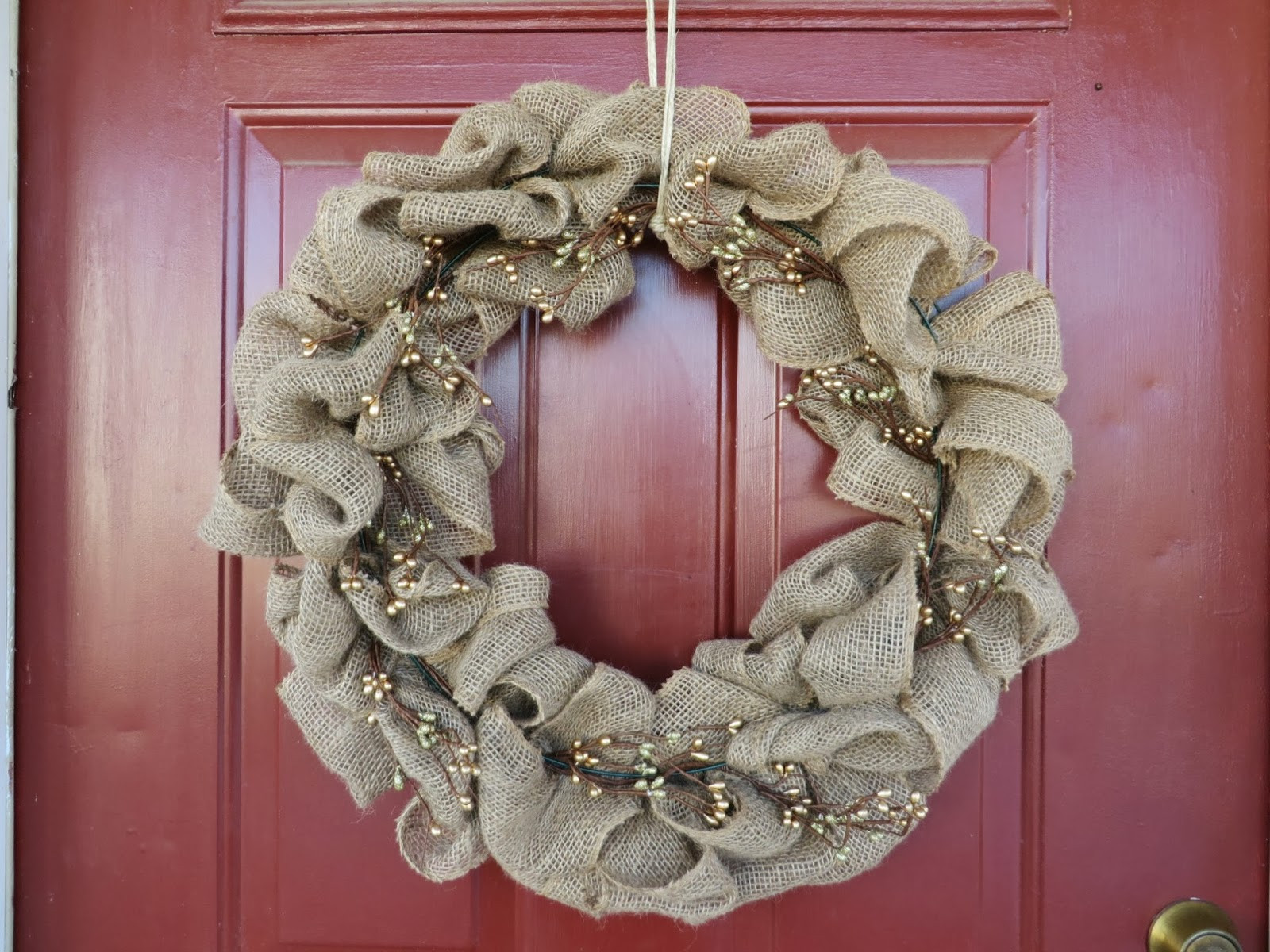 Best ideas about Burlap Wreath DIY . Save or Pin Little Snippets DIY Easiest Burlap Wreath Tutorial Now.