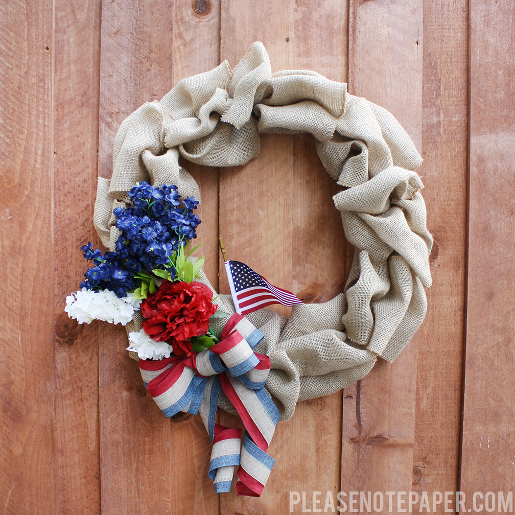 Best ideas about Burlap Wreath DIY . Save or Pin Please Note DIY Patriotic Burlap Wreath Now.