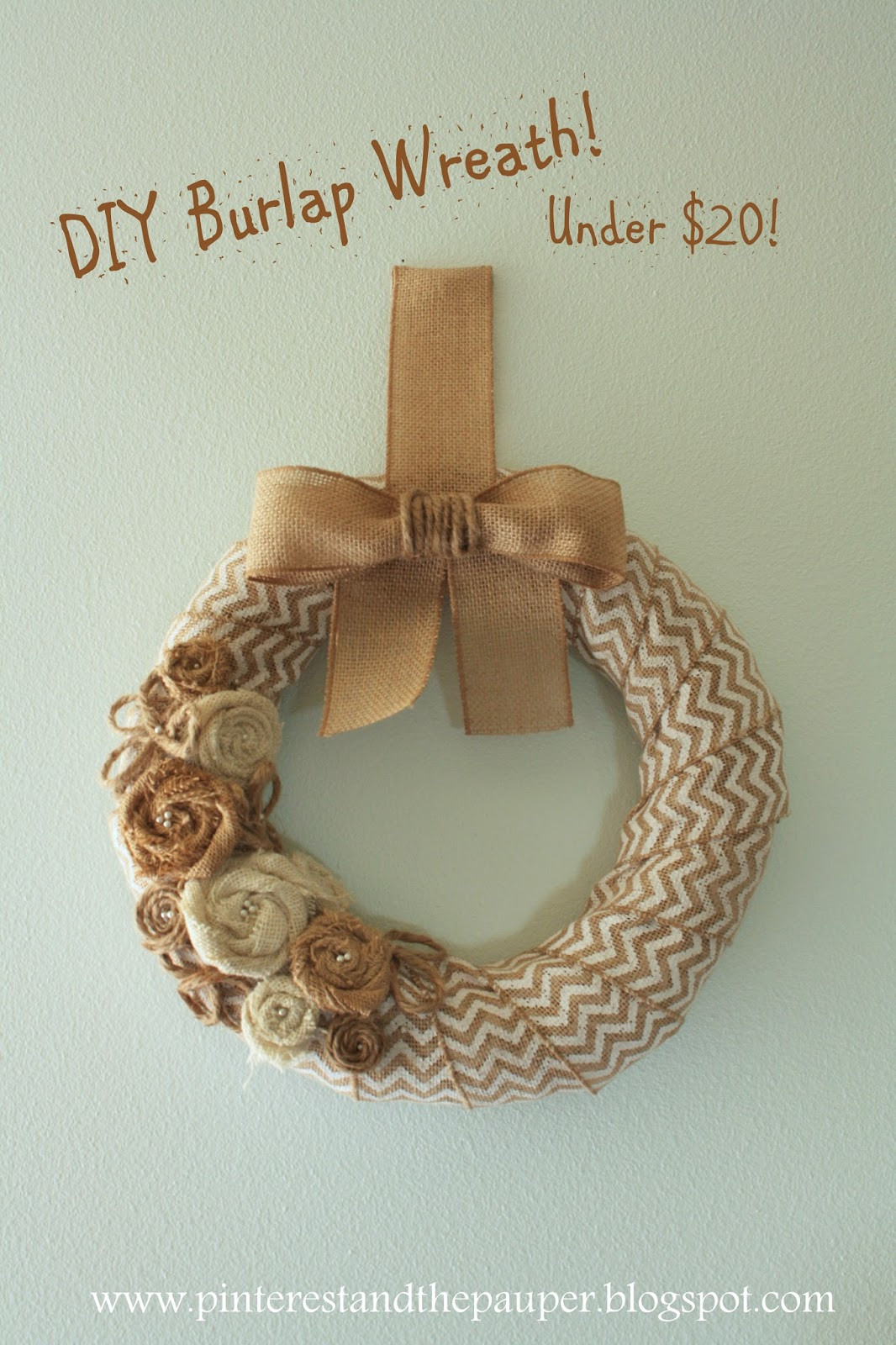 Best ideas about Burlap Wreath DIY . Save or Pin Pinterest and the Pauper DIY Burlap Wreath For Under $20 Now.