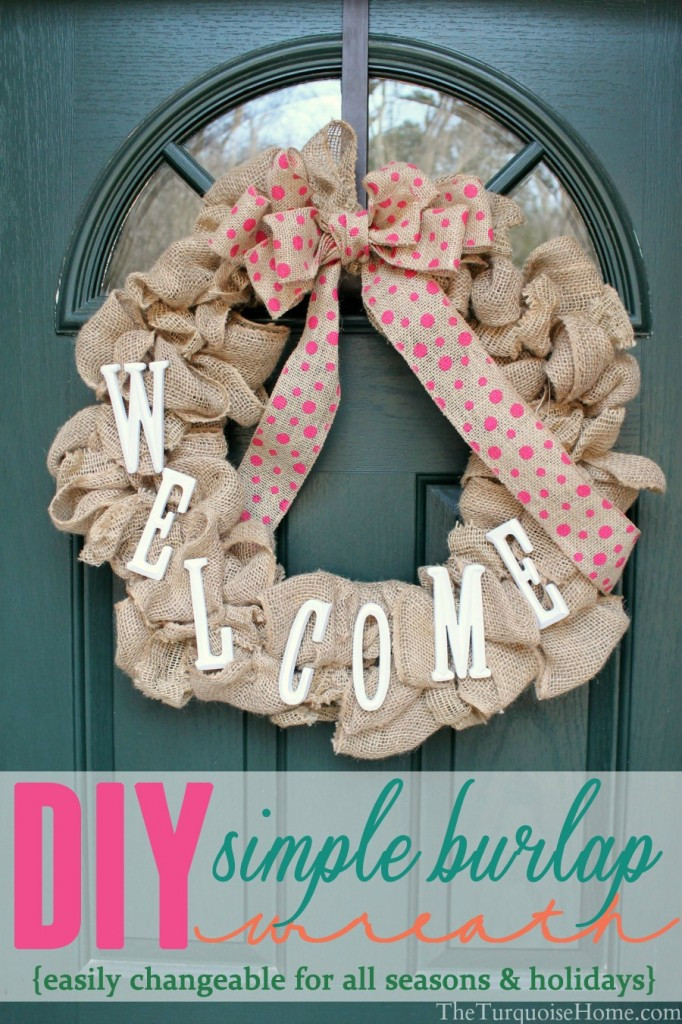 Best ideas about Burlap Wreath DIY . Save or Pin Simple DIY Burlap Wreath easy to change every season Now.