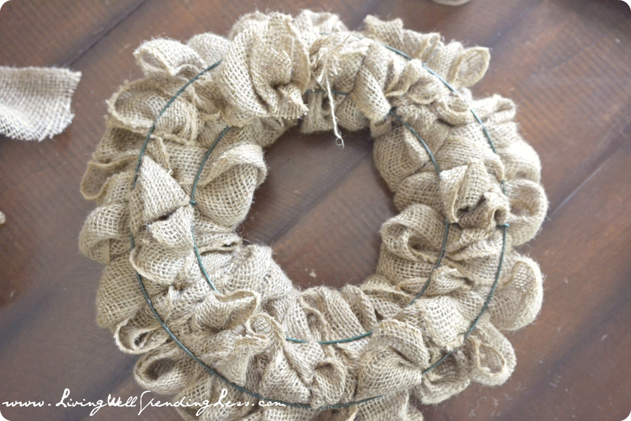 Best ideas about Burlap Wreath DIY . Save or Pin DiY Burlap Wreath Living Well Spending Less Now.
