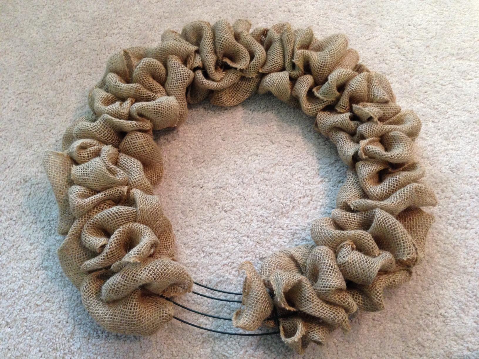 Best ideas about Burlap Wreath DIY . Save or Pin DIY Burlap Door Wreath Now.