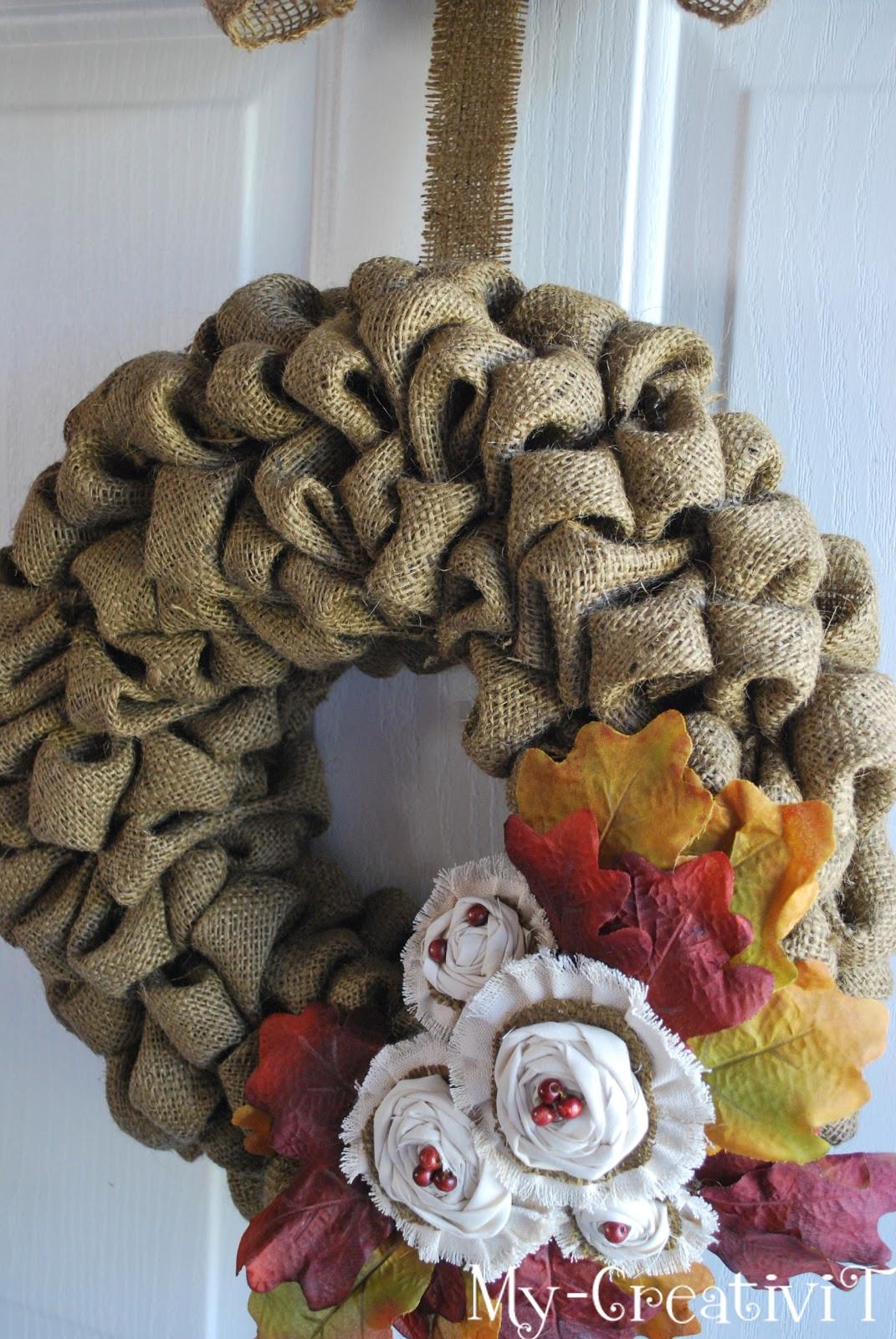 Best ideas about Burlap Wreath DIY . Save or Pin My CreativiT DIY Burlap Wreath Now.