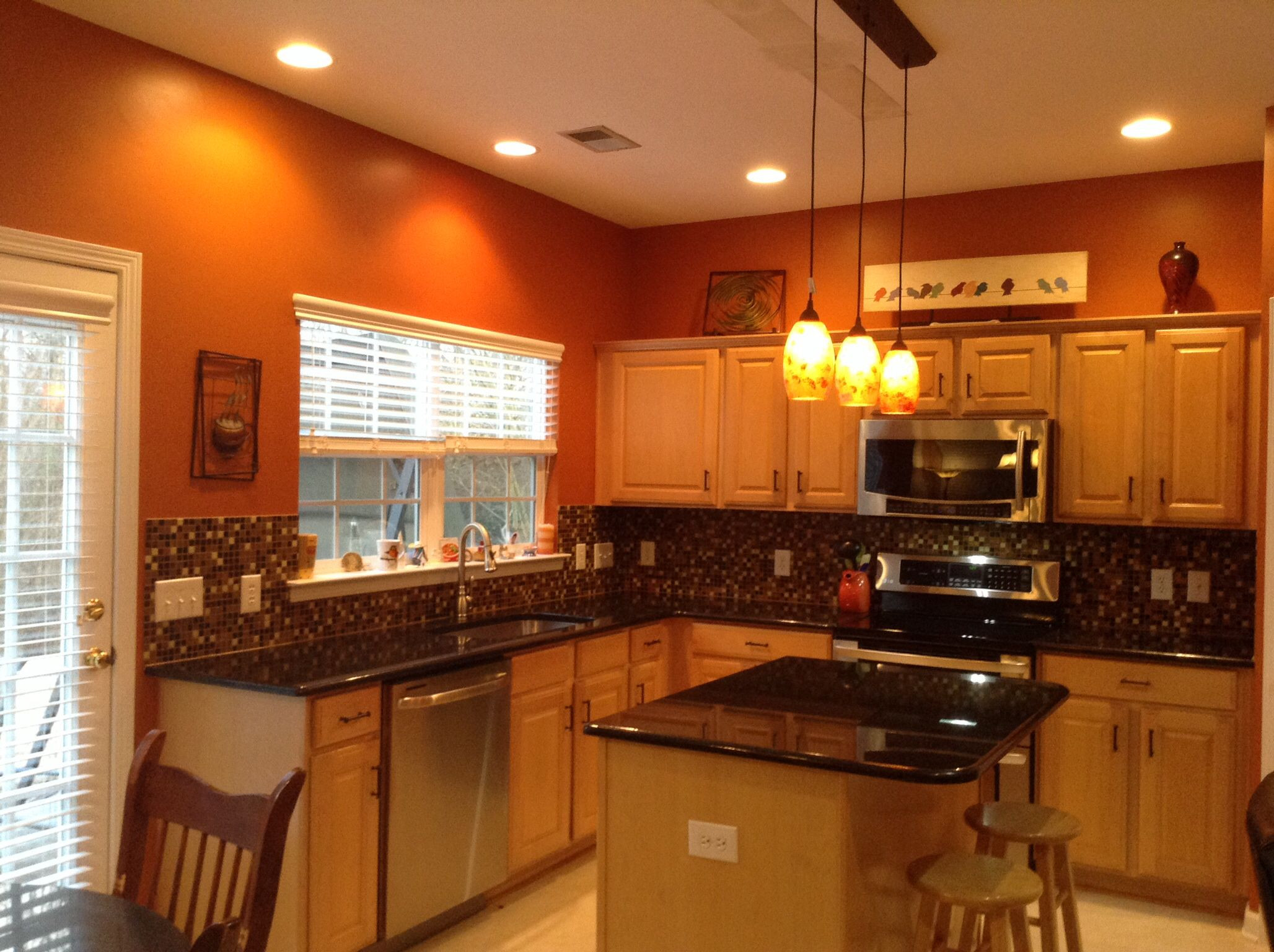 Best ideas about Burnt Orange Kitchen Decor . Save or Pin Burnt orange kitchen with new lighting Now.