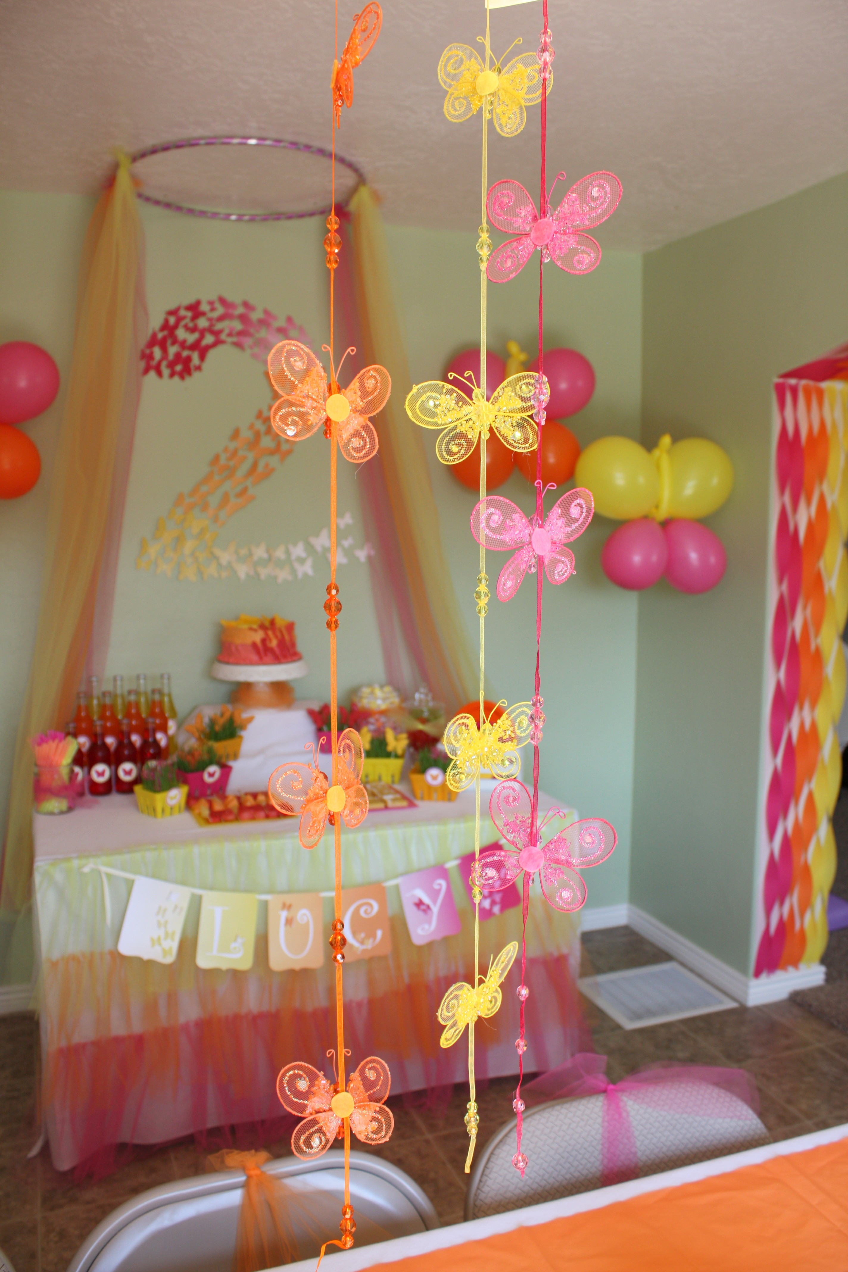 Best ideas about Butterfly Birthday Decor . Save or Pin Butterfly Themed Birthday Party Decorations events to Now.