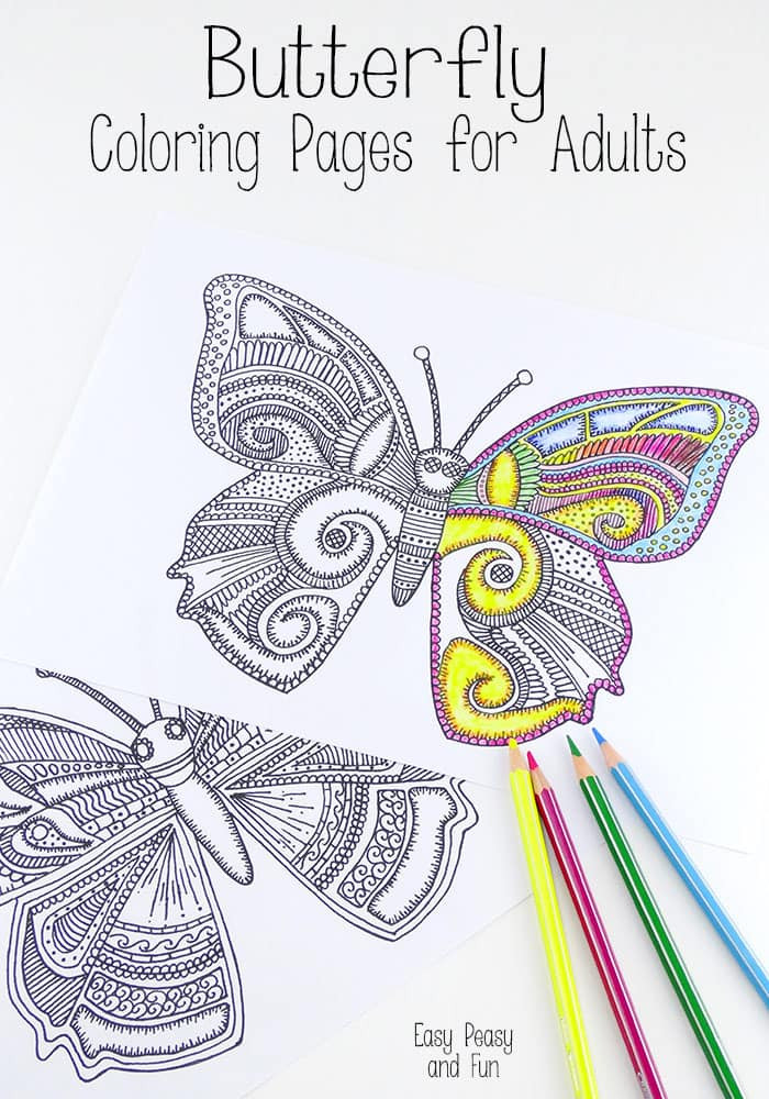 Best ideas about Butterfly Printable Coloring Pages For Adults . Save or Pin Butterfly Coloring Pages for Adults Easy Peasy and Fun Now.