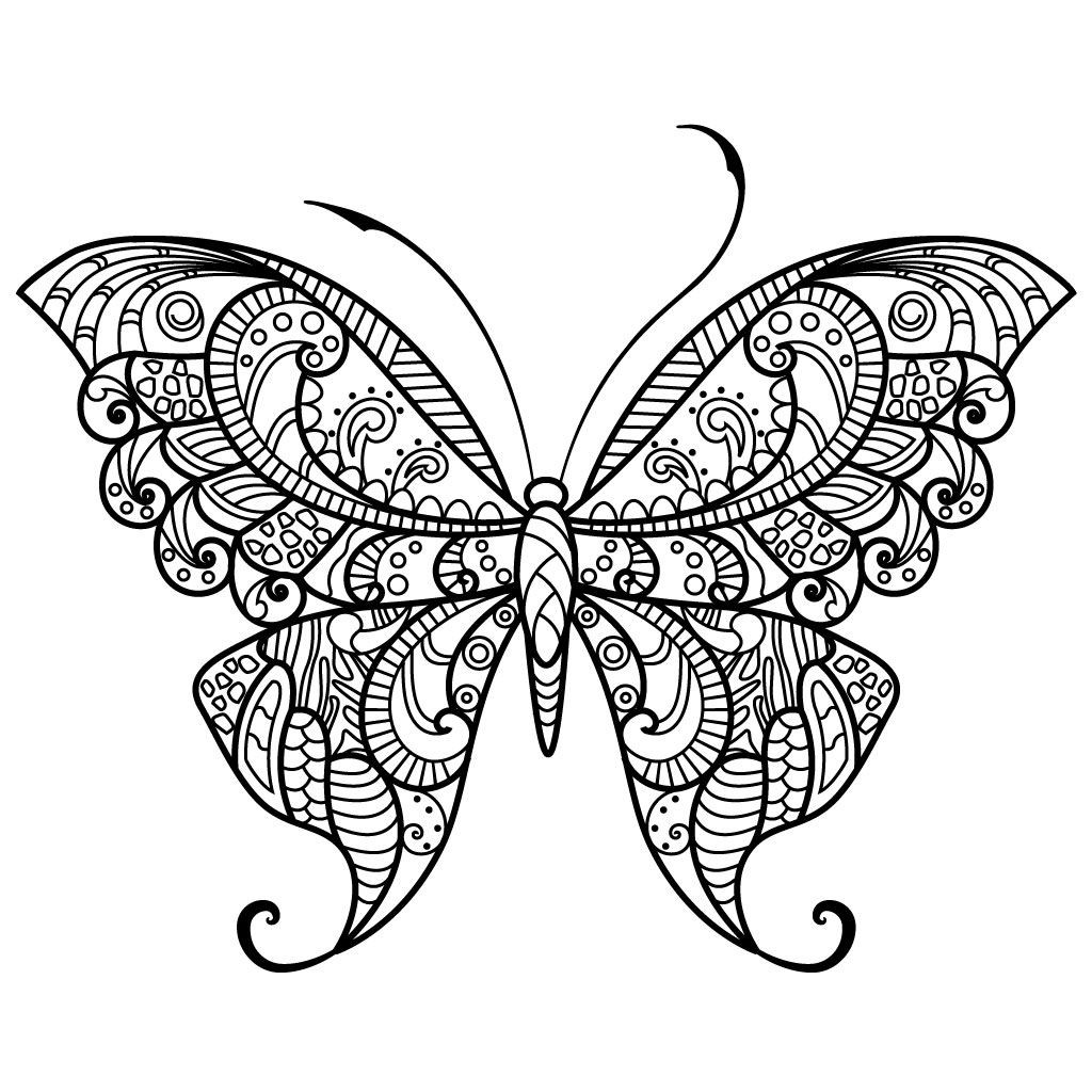 Best ideas about Butterfly Printable Coloring Pages For Adults . Save or Pin Adult Butterfly Coloring Pages Now.